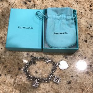 Tiffany and Company Heart Bracelet with Charms